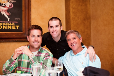 Kevin, the youngest son, Paul the oldest son and Bob. We were celebrating Paul's 30th!