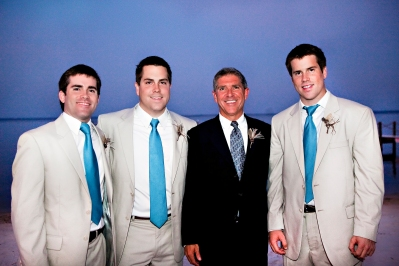 Our three sons, Paul, David and Kevin with Bob on David's wedding day!